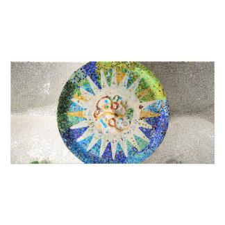Park Guell mosaics Photo Card