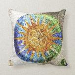 Park Guell mosaics pillow
