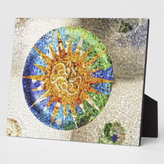 Park Guell mosaics Plaque