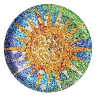 Park Guell mosaics Plate