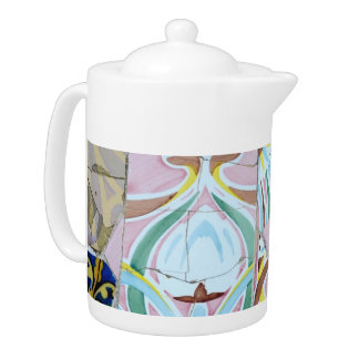 Park Guell mosaics Teapot