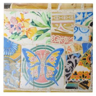 Park Guell mosaics tile