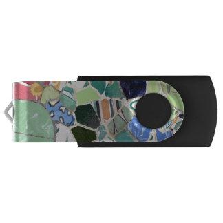 Park Guell mosaics USB Flash Drive