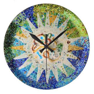 Park Guell mosaics Wall Clock