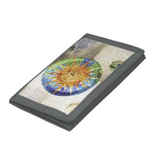 Park Guell mosaics Tri-fold Wallet