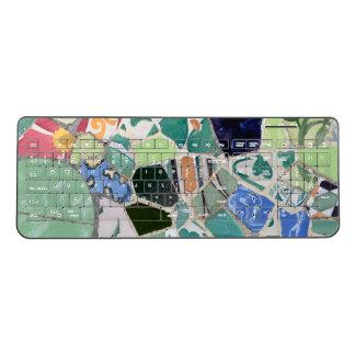 Park Guell mosaics Wireless Keyboard