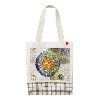 Park Guell mosaics Zazzle HEART Tote Bag