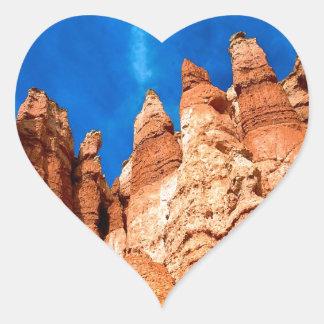 Park Hoodoos Bryce Utah Heart Sticker