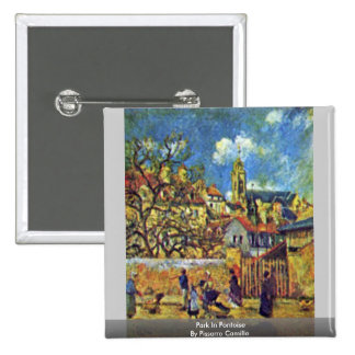Park In Pontoise By Pissarro Camille Pinback Button