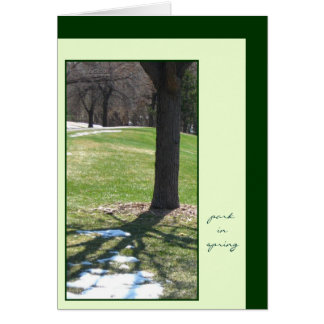 Park in Spring Greeting Card