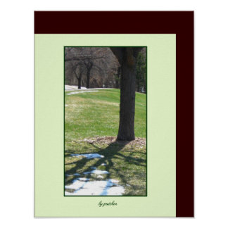 Park in Spring  Poster by gretchen