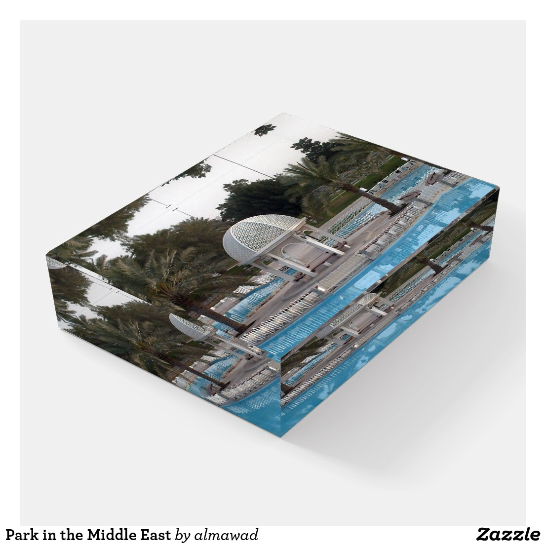 Park in the Middle East Paperweight