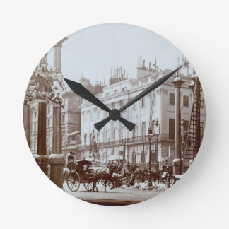 Park Lane being decorated for Queen Victoria's Dia Round Wallclocks