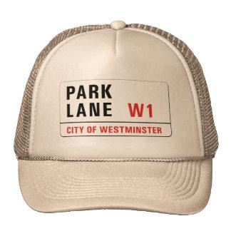 Park Lane, London Street Sign Trucker Hat