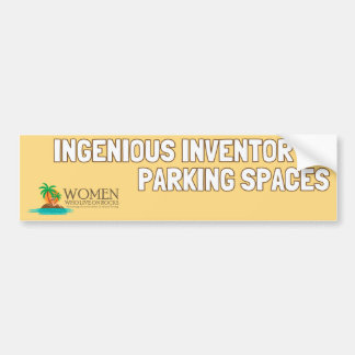 Park Like An Islander Bumper Sticker (yellow)