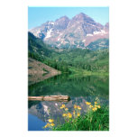 Park Maroon Bells White River Colorado Personalized Stationery
