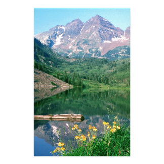 Park Maroon Bells White River Colorado Stationery