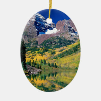 Park Maroon Bells White River Forest Colorado Ceramic Ornament