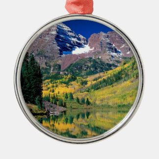Park Maroon Bells White River Forest Colorado Metal Ornament