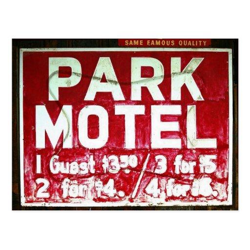 Park Motel Post Card