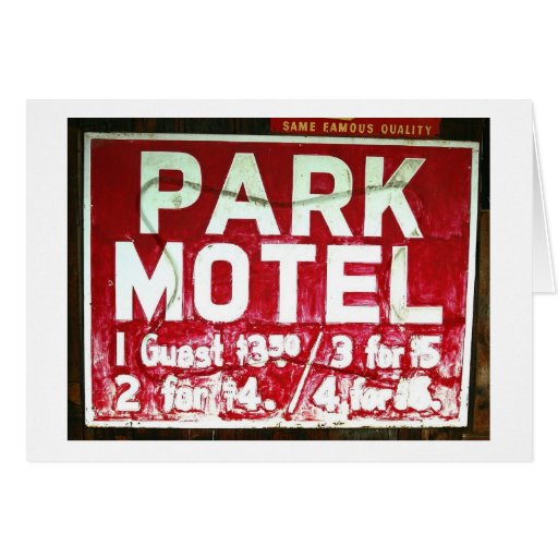 Park Motel Stationery Note Card