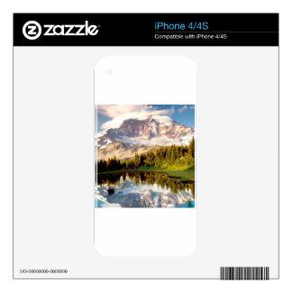 Park Mystic Tarn Rainier Decal For iPhone 4S