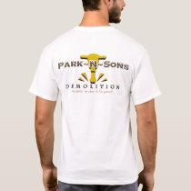 Park N Sons Cnstrctn lght t T-Shirt