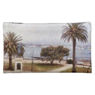Park on waterfront in Melbourne Makeup Bag