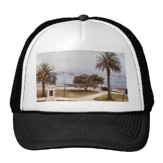 Park on waterfront in Melbourne Trucker Hat