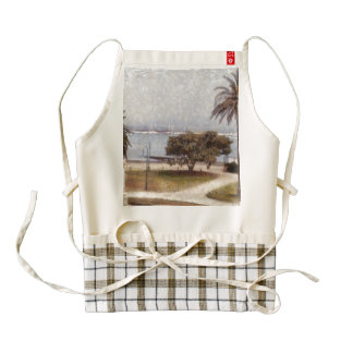 Park on waterfront in Melbourne Zazzle HEART Apron