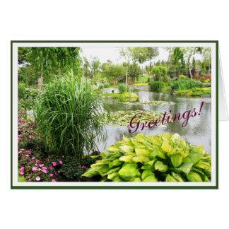 Park Photo Beautiful Hosta customizable Frame Card