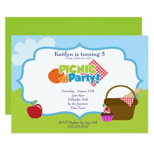 park picnic party invitation zazzle com