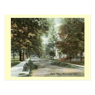 Park Place, Bloomfield, New Jersey 1906 Vintage Postcard