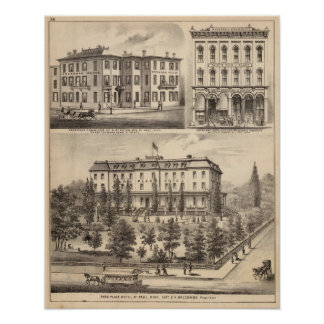 Park Place Hotel, Greenman House, Minnesota Poster