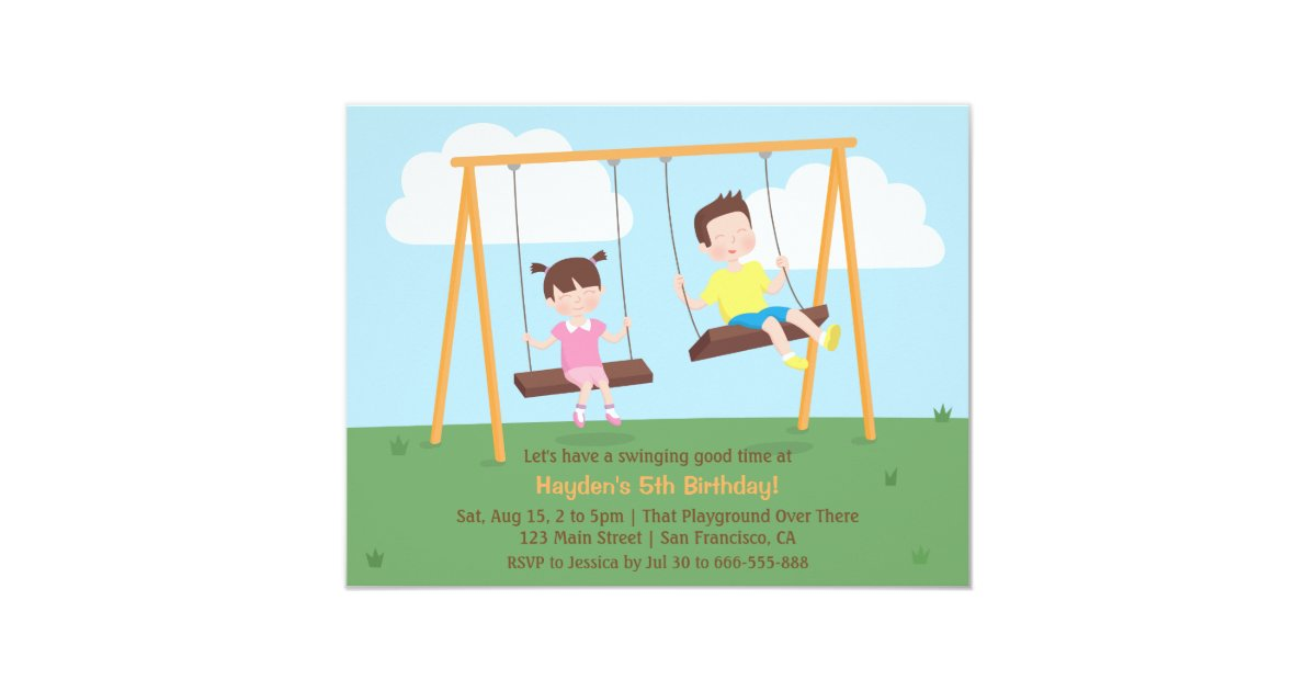 Park Playground Kids Birthday Party