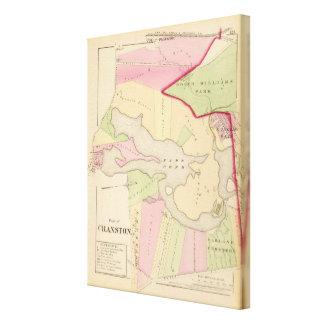Park Pond Roger Williams Park  Atlas Map Canvas Print