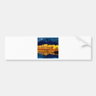 Park Quaking Aspen Moran Grand Tetons Wyoming Bumper Sticker
