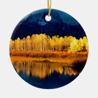 Park Quaking Aspen Moran Grand Tetons Wyoming Ceramic Ornament