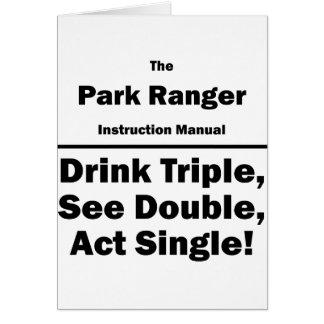 park ranger card