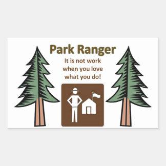 Park Ranger Rectangular Sticker