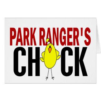 PARK RANGER'S CHICK GREETING CARD