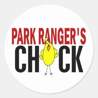 PARK RANGER'S CHICK ROUND STICKERS