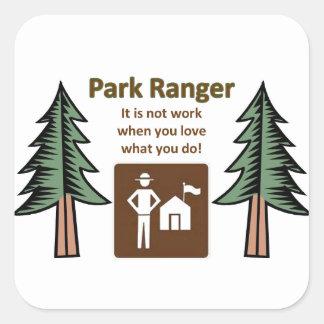 Park Ranger Square Sticker