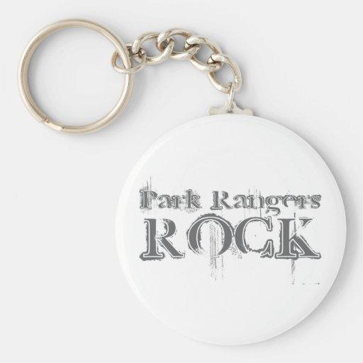 Park Rangers Rock Basic Round Button Keychain