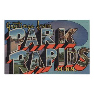 Park Rapids, Minnesota - Large Letter Scenes Poster