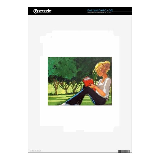 Park Reading Decal For iPad 2