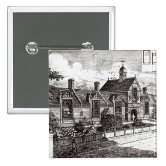Park Road, Hampstead, from 'The Building News' 2 Inch Square Button