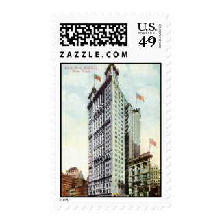 Park Row Building, New York City, 1915 Vintage Stamps