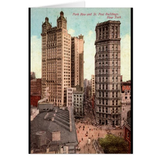 Park Row, St. Paul Buildings NYC c1915 Vintage Card