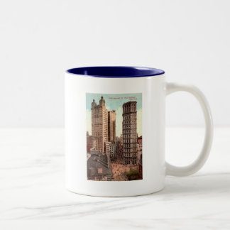 Park Row, St. Paul Buildings NYC c1915 Vintage Two-Tone Coffee Mug